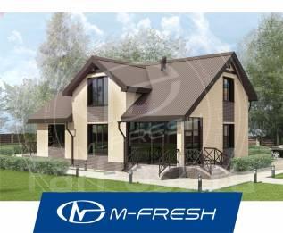 M-fresh Resonance-зеркальный (Проект дома с мансардным этажом). 200-300 кв. м., 1 этаж, 5 комнат, бетон