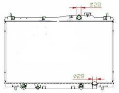 Радиатор охлаждения двигателя. Honda Stream, LA-RN2, LA-RN1, UA-RN1, ABA-RN2, CBA-RN1