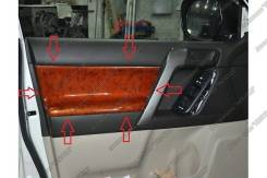 Накладки на двери в салон Toyota Prado 150 ( Прадо 150 ). Toyota Land Cruiser Prado, GDJ150L, GRJ151, GDJ150W, GRJ150, GDJ151W, GRJ150L, TRJ150, KDJ15...
