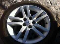 Колеса R17 Mitsubishi + новые шины 215/55 R17 Dunlop. 7.0x17 5x114.30 ET38 ЦО 67,1мм.