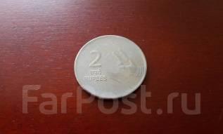 Индия. 2 рупии 2008 года. Всё за 1 рубль!