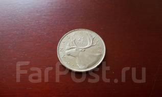 Канада. 25 центов 1979 года. Олень!