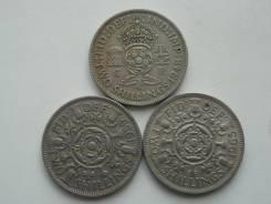 Старая Англия подборка из 3 монет номиналом 2 шиллинга (флорин).