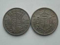 Старая Англия подборка из 2 монет номиналом полукрона. Без повторов!