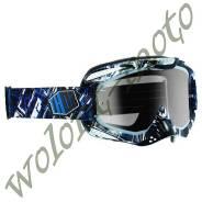 МАСКА КРОСС Черный с синим Thor S14 ALLY BLOCK 2601-1724