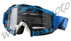 Маска мото ONEAL B-Flex Goggle Черно-сине-белый ONEAL 6024BN-201