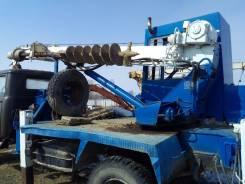 ЗИЛ 130. Бурильно-крановая машина на базе зил 130, 3 000 кг.