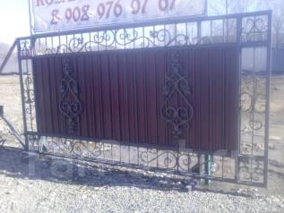Ворота, заборы, лестницы, кованые и металлоконструкции.