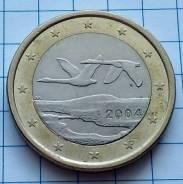 1 евро 2004 года. Суоми. В наличии!
