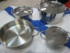 Набор посуды из нержавеющей стали, 6 предметов