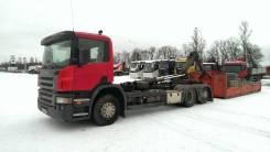 Hiab. Scania P380 6X2 с Мультилифтом_ Multilift LHS 26059 (Пухто), 11 000 куб. см., 17 500 кг.