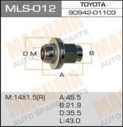 Гайка колеса MLS012 MASUMA 14x1.5 Land Cruiser, с шайбой D35mm, под ключ=22мм (3771)