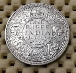 Индия 1 рупия 1940г Ag500 Супер сохран