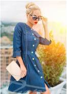 Платья джинсовые. 48, 50, 52, 54