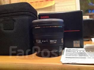 Объектив для Canon Sigma AF 50mm f/1.4. Для Canon, диаметр фильтра 77 мм