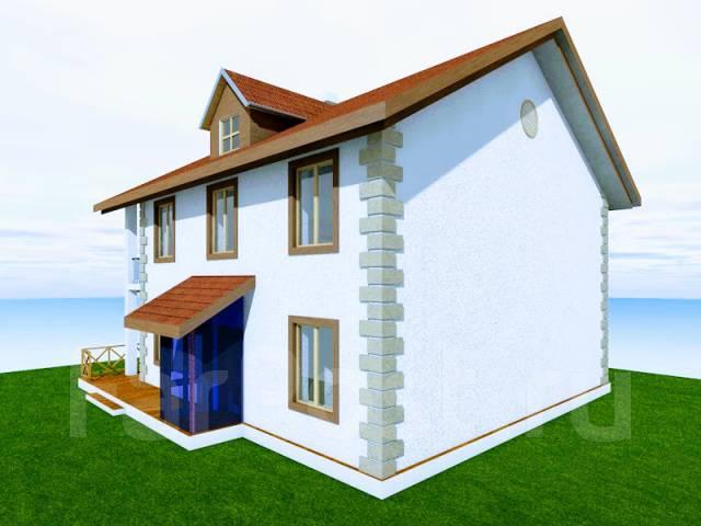 046 Z Проект двухэтажного дома в Сарове. 100-200 кв. м., 2 этажа, 7 комнат, бетон