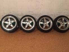 Продам комплект колес Legzas на 17 с летней резиной. 7.0x17 4x100.00 ET42 ЦО 73,0мм.