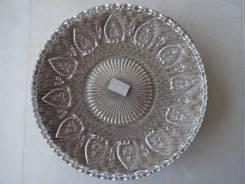 3 фактурные тарелки-блюда! D-20 см Материал: стекло