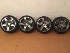 Продам комплект колес на 19 с летней резиной. 8.0/9.0x19 5x114.30 ET38/38 ЦО 73,0мм.