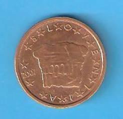 2 евро цента 2007 г. Словения.