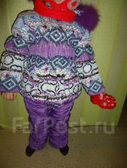 Зимняя одежда на девочку с рубля от 3-5 лет. Рост: 104-110 см