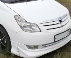 Накладка на фару. Toyota Corolla Spacio, NZE121, NZE121N
