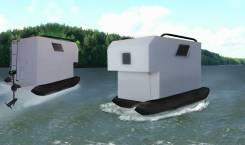 Плавающий treiler 400кг, 2017. Плавающий дом на колесах 2017 400 кг, 1 000 куб. см.