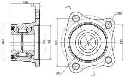 Подшипник задней ступицы Corolla/Sprinter /Levin/Carib 2WD 91-00/ED/EXIV/Celica ST202 Curren ST20# ST-42409-19015 ST4240919015