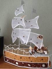Корабль для пиратской вечеринки + подарок