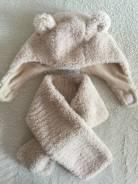 Шапка и шарф. Рост: 68-74, 74-80 см
