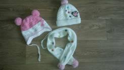Шапка и шарф. Рост: 80-86, 86-98 см