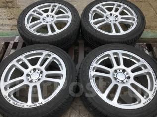 Шикарные японские колеса! 215/50R17 + Rays 7jj +48 pcd 5x100. 7.0x17 5x100.00 ET48