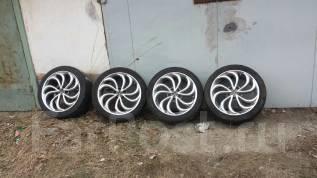 Комплект колес ХРОМ 215/45R17. 7.0x17 5x114.30 ET40 ЦО 70,0мм.