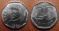 Бразилия 25 сентаво 1994 (иностранные монеты)
