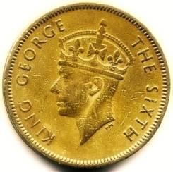 Гонконг 10 центов 1949 (иностранные монеты)