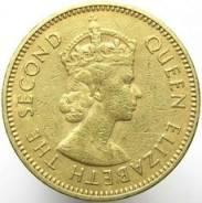 Гонконг 10 центов 1965 (иностранные монеты)