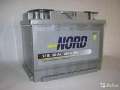 Аккумулятор NORD N6СТ60АЗR 60 Ач. 60 А.ч., Обратная (левое), производство Россия. Под заказ