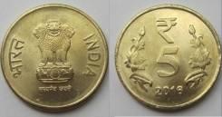 Индия 5 рупий 2016 (иностранные монеты)