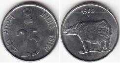 Индия 25 пайс 1989 (иностранные монеты)