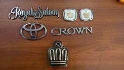 Эмблема(шилдик) набор Toyota Crown. Toyota Crown, JZS171W, JZS177, JZS179, JZS175, JZS171, JZS173, JZS175W, JZS173W