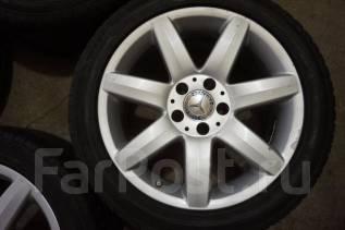 245/45R17 Летние шины с литыми дисками Mercedes. Без пробега по РФ. 8.5x17 5x112.00 ET35 ЦО 66,6мм.