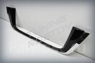 Накладка под номер Land Cruiser 200 хром + черный перл рестайлинг. Toyota Land Cruiser, UZJ200W, J200, VDJ200, URJ202W, GRJ200, URJ200, URJ202, UZJ200