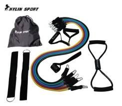 Резиновый эспандер Kylin Sport с пятью жгутами, нагрузка до 70 кг