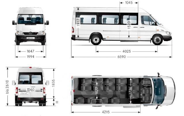 Mercedes-Benz Sprinter 411 CDI. Больше выгодных предложений оф. дилера по адр. Иркутск ул. Ширямова 32, 2 148куб. см., 23 места