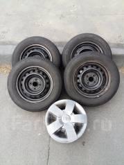 Колеса: шины 175/70/R14, на штамп. дисках 4*100 + колпаки, б/п по РФ. 5.5x14 4x100.00 ЦО 54,1мм.