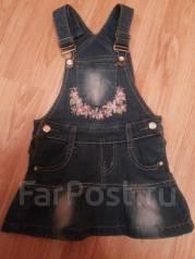 Сарафаны джинсовые. Рост: 60-68 см