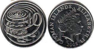 Острова Кайман 10 центов 2005 (иностранные монеты)