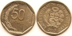 Перу 50 сентимо 2007 (иностранные монеты)