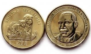Танзания 200 шиллингов 1998 (иностранные монеты)