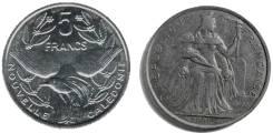 Французская полинезия 2 франка 1991 (иностранная монета)
